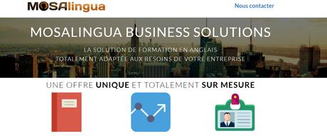 MosaLingua : formation anglais entreprise