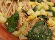 Spaghetti courgettes basilic