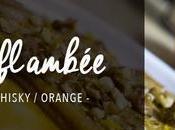 Crêpe flambée noix, miel, whisky l'orange