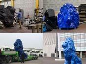 lions Grand Stade Lyon décoré avec mètres
