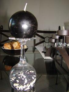D coration de table en noir et blanc paperblog for Decoration table noir et blanc
