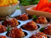 ~Mini-pains viande poulet, sauce moutarde miel~