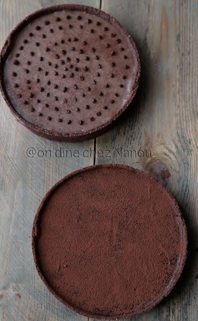 tarte chocolat , ganache chocolat noir , tarte chocolat caramel , pâte cacao