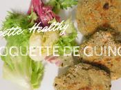 Croquette quinoa {Healthy}