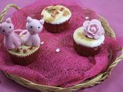 Cupcakes meringués cœur framboise Saint valentin