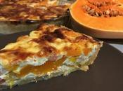 Quiche butternut, lardons oignons
