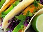 Tacos diététiques chou rouge, colin avocat