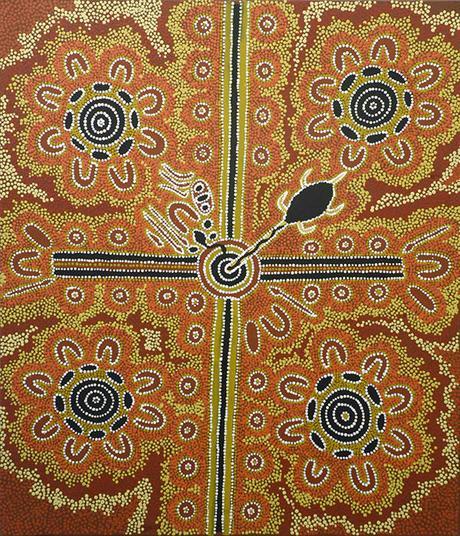 saint valentin une histoire d 39 amour tabou racont e dans une peinture aborig ne paperblog. Black Bedroom Furniture Sets. Home Design Ideas