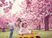 Séance photo bébé sous cerisiers fleurs Sceaux Milla