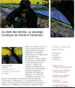Musée d'Orsay  « Au-delà des Etoiles » de Monet à Kandinsky 14 Mars au 25 Juin 2017