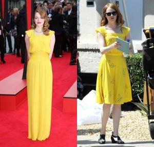 robe la la land emma stone inspir e par looks de tapis rouge paperblog. Black Bedroom Furniture Sets. Home Design Ideas