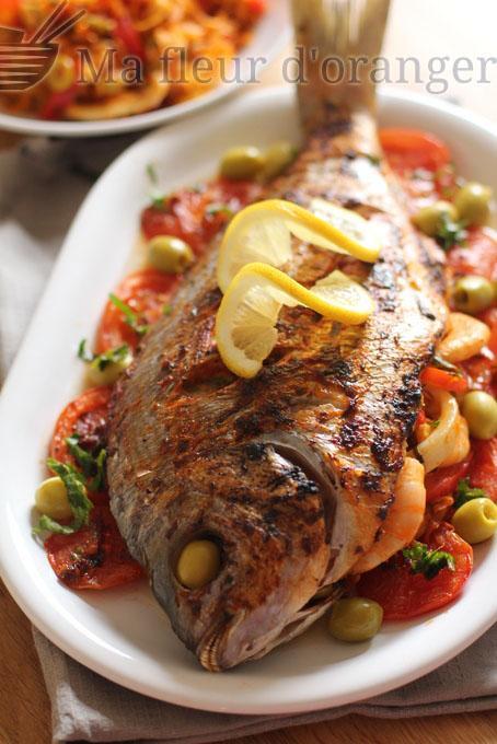 Poisson farci au four paperblog for Cuisine juive marocaine