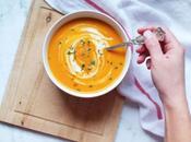 Velouté carottes curry rouge lait coco
