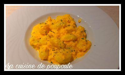 Gnocchis sauc aux carottes et comté au thermomix ou sans