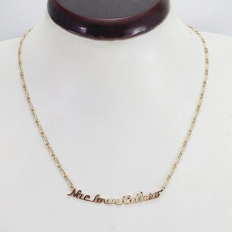 collier prénom en or jaune 18 carats