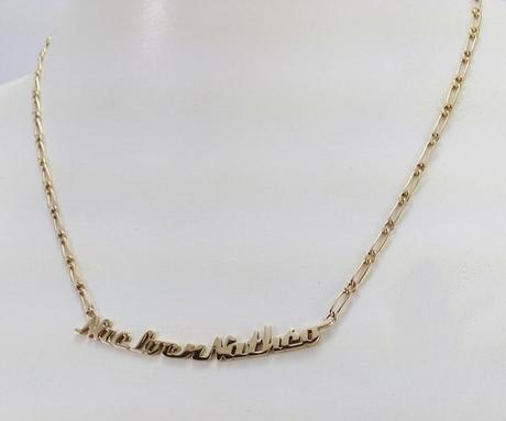 collier prénom or 18 carats