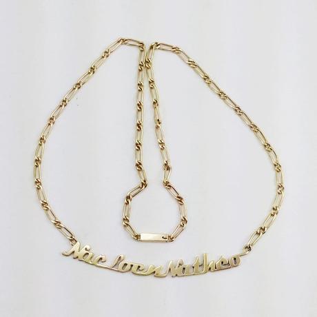 collier prénom fabriqué manuellement en or 18 k
