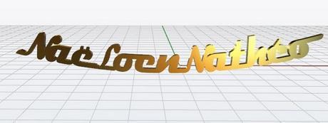 collier prénoms personnalisés en or jaune 18 carats