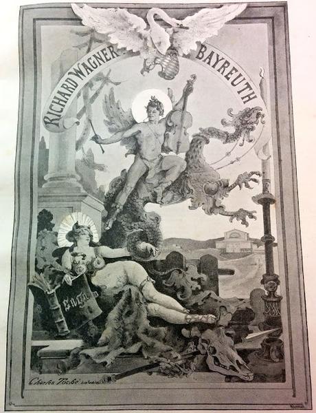 Frontispice allégorique pour les Bayreuther Festblaetter par Charles Toché