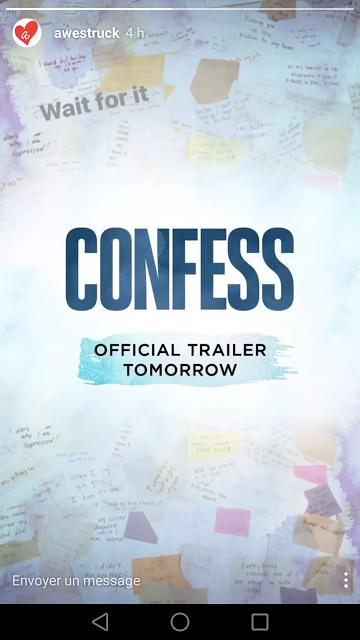 La bande annonce de Confess Show arrive dans la journée