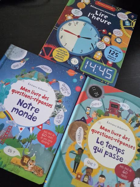 Feuilletage d'albums #44 : spécial DOCUMENTAIRES Usborne : ♥ ♥ ♥ Notre monde - Lire l'heure - Le temps qui passe