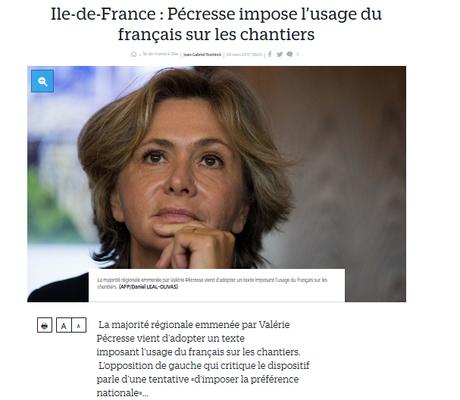 Pécresse #LR impose une mesure xénophobe en Ile-de-France