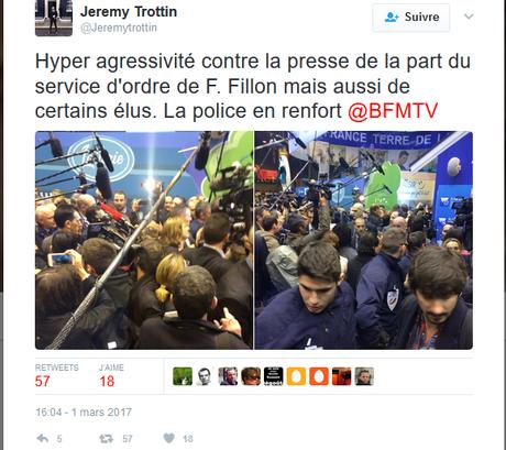 la haine des journalistes, symptôme de #PesteBrune, chez #Fillon2017