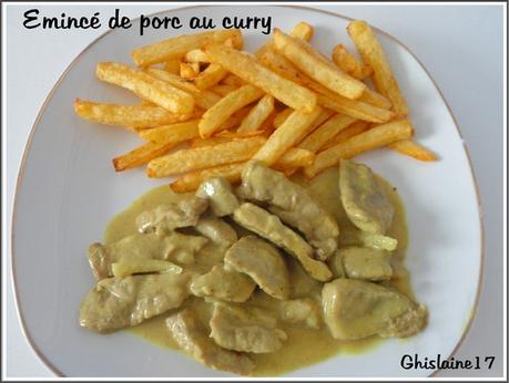 Emincé de porc au curry