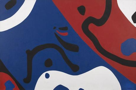 George Vranesh (1926-2014) Into the Wave, 1971 Acrylic on canvas, 44 x 66 1/4 inches