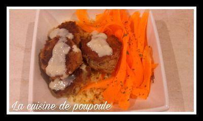 Bowls oriental (boulgour, boulettes de chou-fleur et sauce citron-sésame) au thermomix ou sans