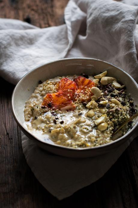 Porridge aux Agrumes, Tahini & Graines
