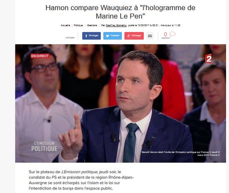 Fact-Checking : #wauquiez « Vous êtes un joli hologramme de Marine Le Pen » : VRAI !