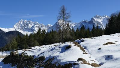 Belles promenades bavaroises: de Mittenwald au Wildensee (mars 2017)