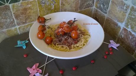 Linguine alla bolognese