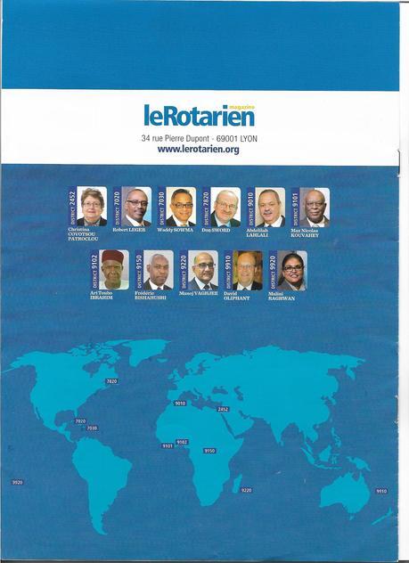 Le Rotary francophone : les 29 Gouverneurs de District
