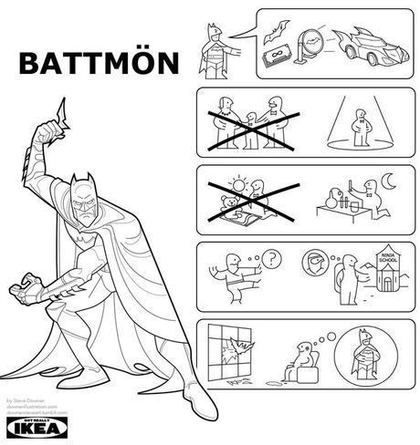 L'histoire des super-héros revisitée en manuels IKEA
