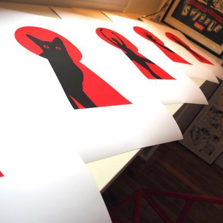 Le travail sérigraphique de l'artiste Le Sonneur