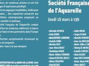 Vernissage 17ème exposition Société française l'aquarelle Charenton Pont