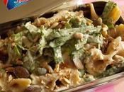 Salade pâtes épinards, l'oseille bourrache, vinaigrette sans huile (Vegan)