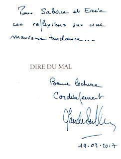 Dire du mal... avec Claude Sérillon