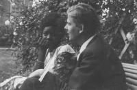 Louis-François Delisse et Gambo en juillet 1965 photo de Jacky Dodin  sans bordure