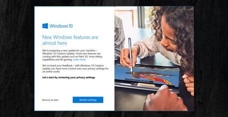 Windows 10 pourra accueillir la MAJ Creators Update dès la semaine prochaine
