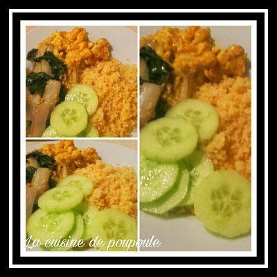Blettes sautées, boulgour et pois chiches au curry au thermomix ou sans (vegan)
