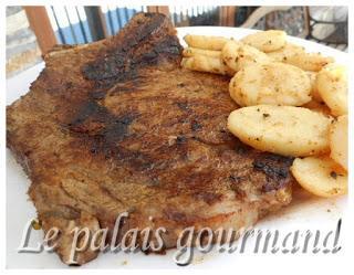 Steak mariné moutarde et ail
