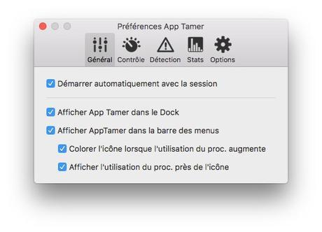 App Tamer 2 pour contrôler l'autonomie de votre Mac