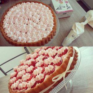 Tarte aux fraises à la pâte génoise avec Thermomix