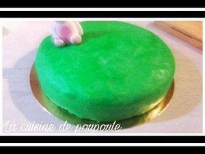 Gâteau pour Pâque en pâte à sucre au thermomix ou sans
