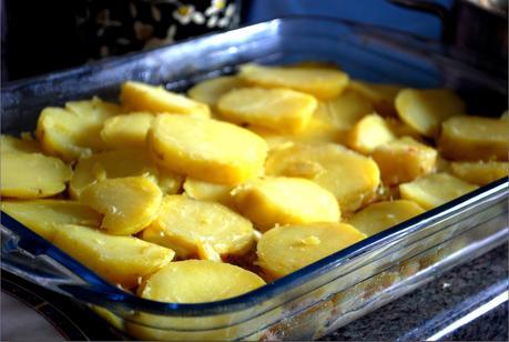 Gratin de pommes de terre et fruits de mer