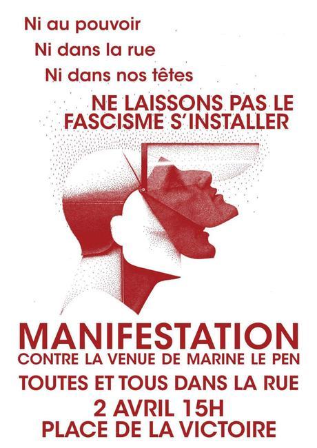 «Marine, casse-toi, Bordeaux n'est pas à toi » #antifa
