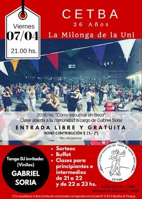 Milonga de la Uni ce week-end [à l'affiche]